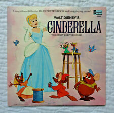 Disneyland Records 3908 Cinderella The Story And The Songs lp, NO HOLE MARKS,NM!