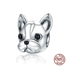 2018 New Silver French BULLDOG Doggy Animal Beads fit Original Charm Bracelets