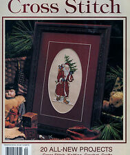 Cross Stitch Pattern Leisure Arts Christmas Santa Claus Crochet Afghan & Elves