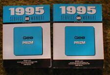 1995 Geo Prizm Service / Shop Manual Lot of 2