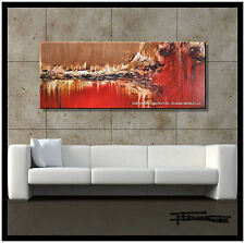 Large Modern Abstract Painting Canvas Wall Art Framed US ELOISExxx