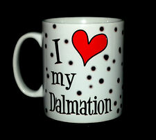 NEW I LOVE HEART MY DALMATION GIFT MUG CUP DOG BREEDING PUPPY SPOTTY SPOTTED