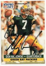 DON MAJKOWSKI - SIGNED/AUTO/AUTOGRAPH ON A FOOTBALL CARD - GREEN BAY PACKERS