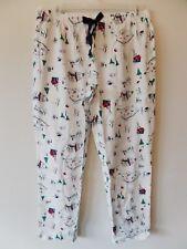 Gap Womens L Ski Lodge Print Lounge Pants Pjs D/S 100% Cotton Off White New