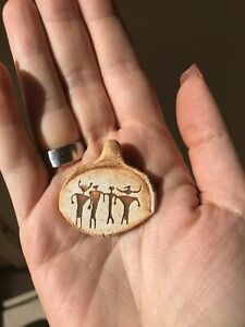Handmade Clay Petroglyph Pendant - Community