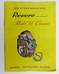Manual Only Vintage Revere Eight Model 88 Camera 8 mm Owner's Instruction Manual