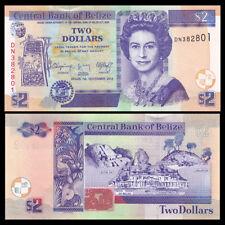 Belize 2 Dollars, 2014, P-66e, UNC