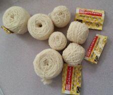 Spinnerin Creme de Coquette virgin wool Ecru 7 1oz balls EC!