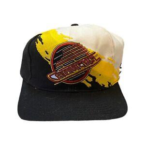 Vintage Vancouver Canucks Splash NHL Logo Authentic Pro Line Snapback Hat Rare