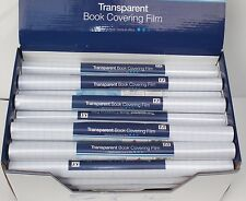 1 Roll of 30cm x 1m Clear Transparent Book Covering Sticky Back Plastic Film