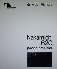 NAKAMICHI 620 STEREO POWER AMP SERVICE MANUAL INC SCHEMS PRINTED BOUND ENGLISH