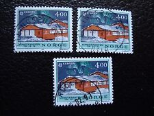 NORVEGE - timbre yvert et tellier n° 1006 x3 obl (A04) stamp norway (E)