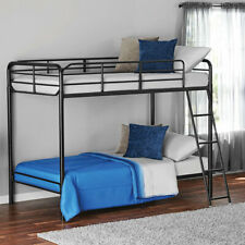 Mainstays Twin over Twin Metal Bunk Bed, Black