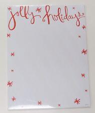 80 Sheets Jolly Holidays Stationary Hallmark Newsletter Paper New White