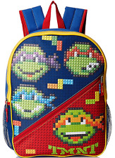 "Teenage Mutant Ninja Turtles 3D Bubble Block 16"" Boys Backpack School Bag"