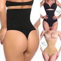 Women's Underwear Boned High Waist Trainer Tummy Control Body Shaper Thong Panty