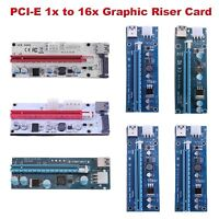10 Styles PCI-E Express 1x to 16x Graphic Riser Card Extender for BTC Mining lot