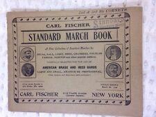 VTG 1936 Standard March Book, Carl Fischer,  2nd & 3rd Bb Cornets, Brass & Reed