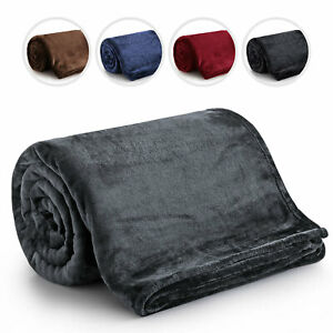Thick Fleece Bed Blanket Sofa Throw Luxury Soft Warm Thermal Camping Blanket
