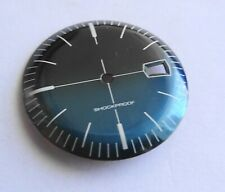 Piece Watchmaking Watch Dial Curved Blue Bright Reciprocating Diameter 1 5/32in