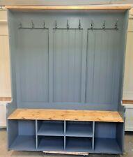 Handmade solid pine 145cm Hall Shoe Boot Coat Stand storage bench
