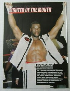 """Boxer MICHAEL GRANT February 2000 """"Fighter Of The Month"""" Magazine Poster"""