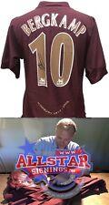 Dennis Bergkamp signé Arsenal 2005/06 Nike Highbury football shirt preuve & COA