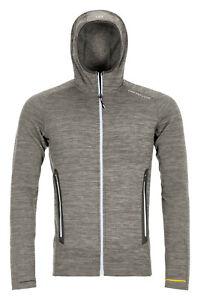 Ortovox Fleece light melange HOODY M, grey blend, Grösse M, outdoor,  wandern