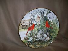 Franklin Mint Cardinal Plate The Old Wooden Bucket