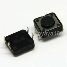500pcs 12*12*4.3mm TACT SWITCHES Microswitch Pushbutton Through hole Copper Feet