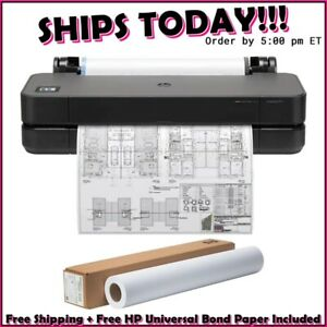 "HP DesignJet T250 Large Format Compact Wireless Plotter Printer - 24"" (5HB06A)"