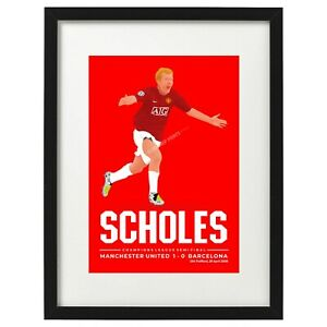 Paul Scholes Manchester United art print / poster