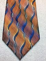 HATHAWAY MENS TIE 4 X 59 ORANGE, BLUE, GREEN AND BLUE NWOT