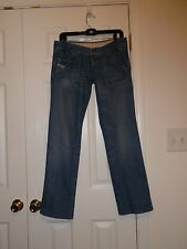 DIESEL LOW RISE JUNNIE STRAIGHT LEG COTTON JEANS SIZE 29