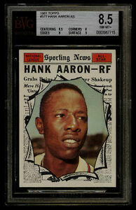 1961 TOPPS #577 HANK AARON AS BVG 8.5 NM-MT+ BRAVES SUBS(9 9 8.5 8) OLD LABEL