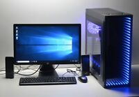 "GAMING PC SET 23"" Quad i5  16 GB RAM 1600MHZ 1TB 4GB GDDR5 GTX 1650 WINDOWS 10"