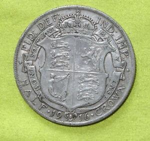 1916 UK Silver HALF Crown coin George V (1910 - 1936) Combine Postage