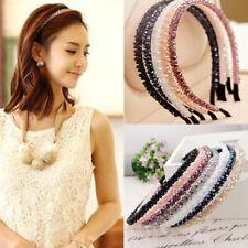 Women Crystal Shiny Beaded Hair Hoop Pearl Hairband Headband Hair Accessories
