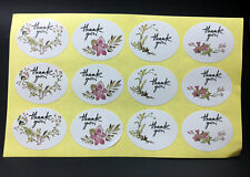 120PCS ~Flower design sticker labels Creative Paper stickers Thank You Sticker