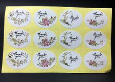 120PCS ~Flower design sticker labels Creative Paper stickers Thank You Sticker