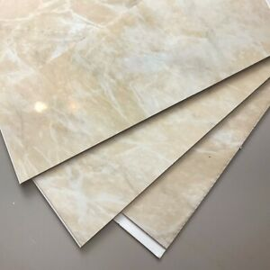 6 Beige Marble Bathroom Wall Cladding PVC Shower Wet Room Kitchen Ceiling Panels