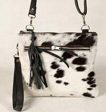 Real Cowhide Cross body Purse Handbag & Hand Clutch  Cow Hide Leather  SA-357
