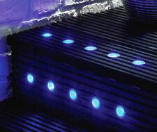 MiniSun LED Decking Light Kits Outdoor Garden Plinth Lights Soffit Lighting Ip65 10 Blue 40mm
