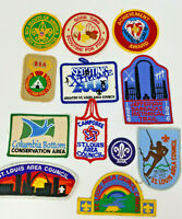 Vintage Set of 12 Boy Scouts Patches Undated Jubilee Conversation Xtreme Council