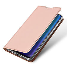 DUX DUCIS PU Leather Wallet Smart Magnetic Flip Case for Huawei P30 - Rose Gold