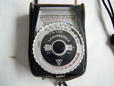 LENINGRAD LIGHT METER IN CASE WITH INSTRUCTIONS