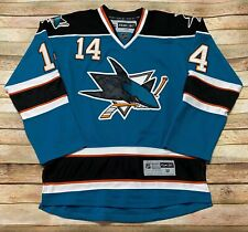 Reebok SAN JOSE SHARKS Jersey JONATHAN CHEECHOO Vtg 2002-2009 Away NHL MEDIUM