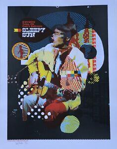 "Sleepy Sun Poster - Denny Schmickle - 18x24"" Hand Screened - TULSA"