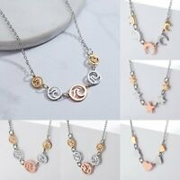 Fashion Women Heart Map Moon Pendant Charm Necklace Chain Choker Collar Chunky