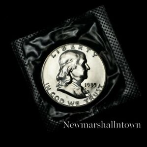 1955 Franklin Mint Proof Half Dollar from Proof Set in Mint Cellophane 2021 217